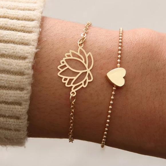 Jewelry - *Pheobe* Gold Bracelet Set